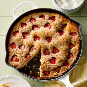 Strawberry Buttermilk Skillet Shortcake