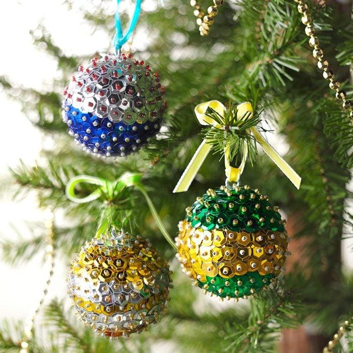 Beaded Sequin Ornaments