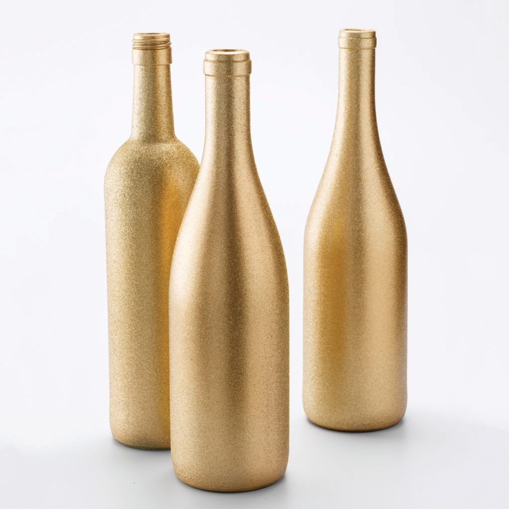 paint gold bottles recycle