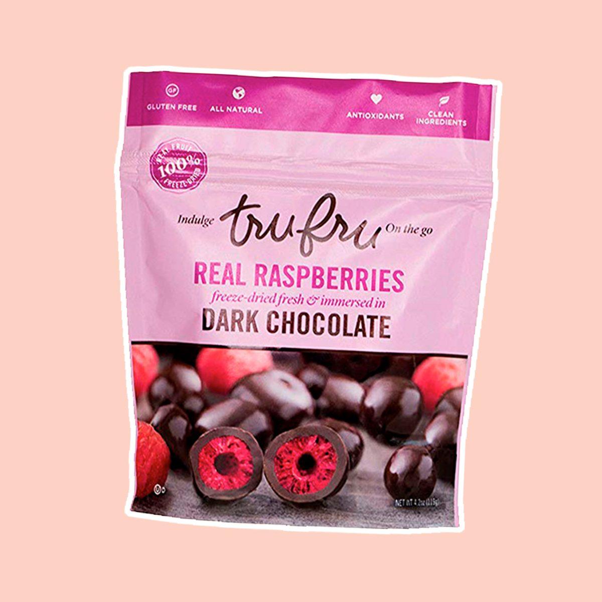 Tru Fru RASPBERRY PACK | 100% Freeze-Dried Fresh Raspberries Covered in Premium Dark Chocolate. 6ct-Pack Case, 4.2oz, 24 Servings (6-Raspberry)