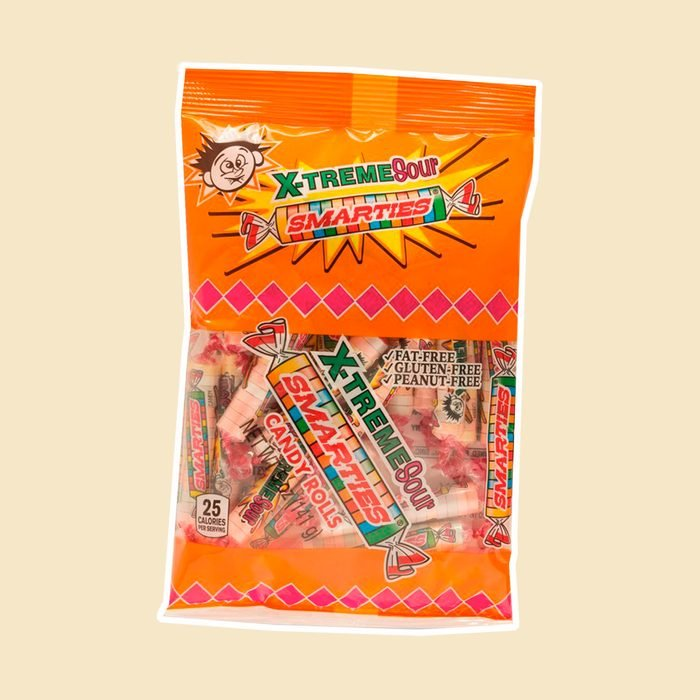 X-Treme Sour Smarties Assorted Flavor Candy Rolls, 5 oz, Pack of 3