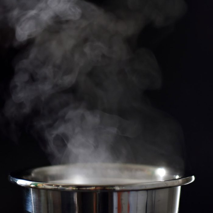 Smoke from the cooking pot