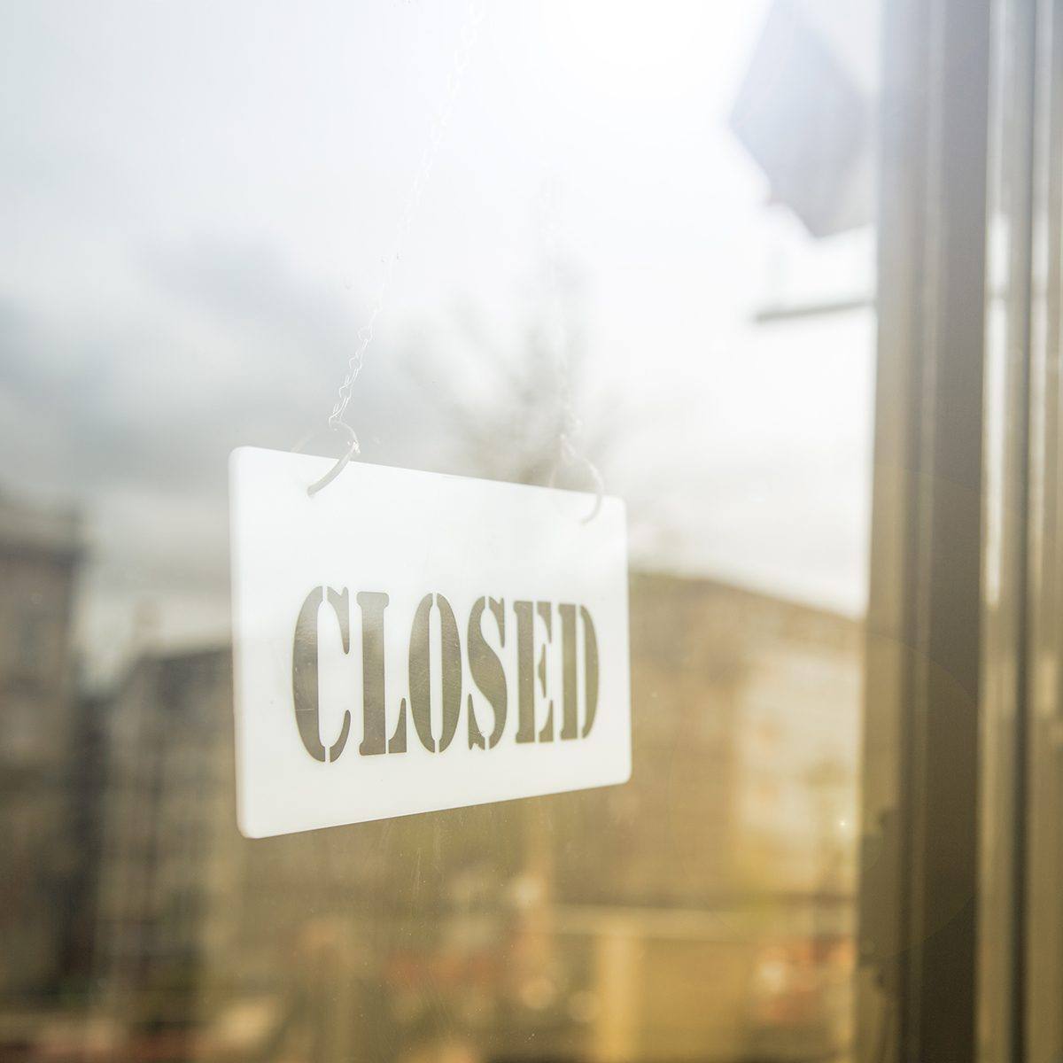 Closed sign inside the store door for customer know we will back tomorrow.