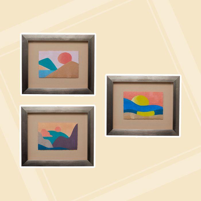 Paintings in frames