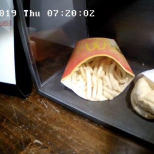 Here's What A 10-Year-Old McDonald's Burger & Fries Looks Like