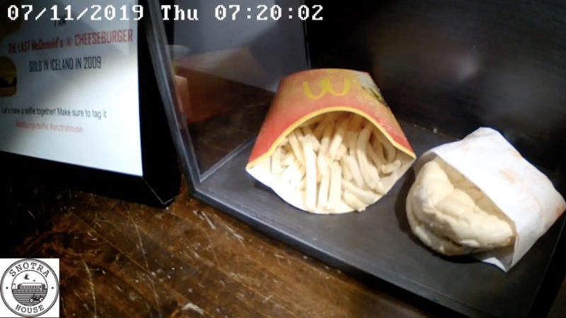 Recording of 10 year old McDonalds burger and fries