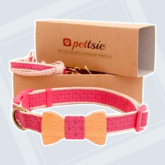Matching Dog Collar Bow Tie & Owner Friendship Bracelet