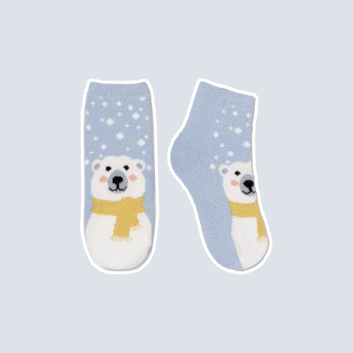 """Women's Polar Bear """"It's Beary Cold Out"""" Cozy Socks with Gift Card Holder - Wondershop™ Blue One Size"""