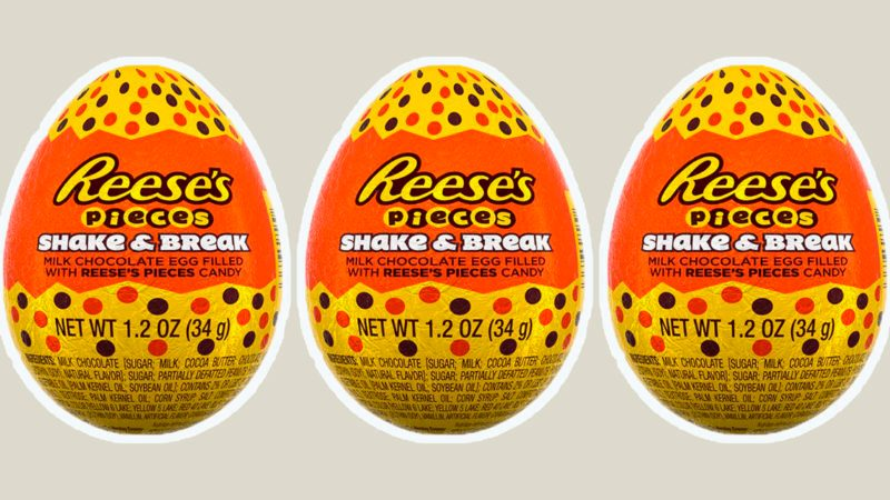 reese's pieces shake & break eggs
