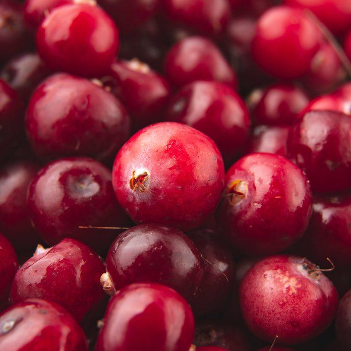 Cranberry / Red cranberries / Fresh organic fruits background / Cranberries pattern.; Shutterstock ID 1526650406; Job (TFH, TOH, RD, BNB, CWM, CM): Taste of Home