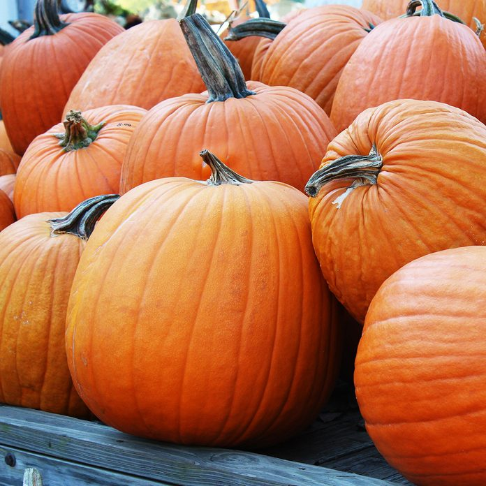 Wagon of Autumn Carving Pumpkins for Sale at Pumpkin Patch; Shutterstock ID 721235911