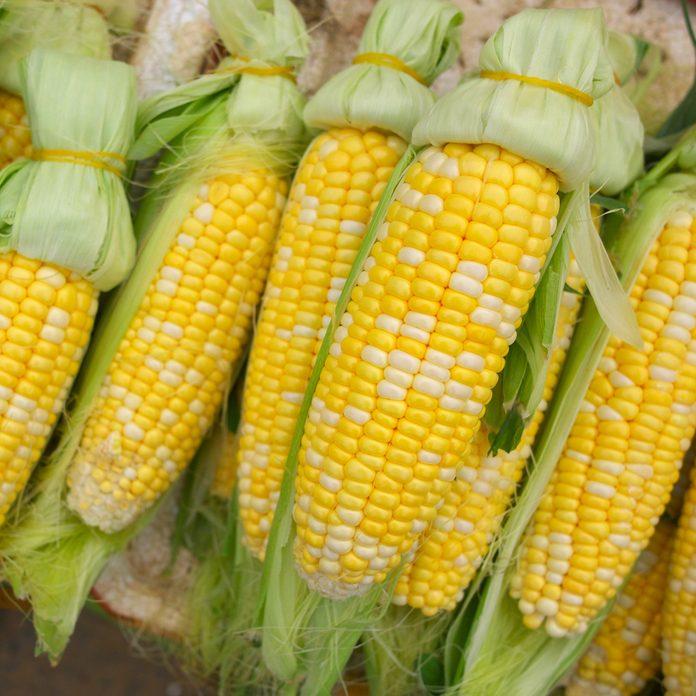 fresh sweet corn cobs; Shutterstock ID 95629378; Job (TFH, TOH, RD, BNB, CWM, CM): Taste of Home