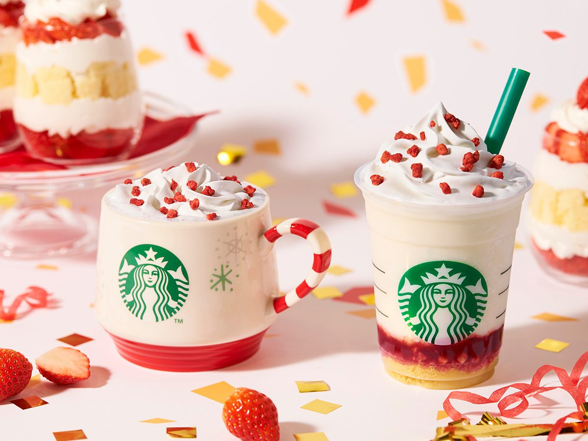 Starbucks Japan Is Making a Gorgeous Strawberry Cake Frappuccino for the Holidays