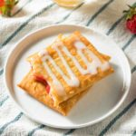 Sweet Breakfast Strawberry Toaster Pastry with Frosting
