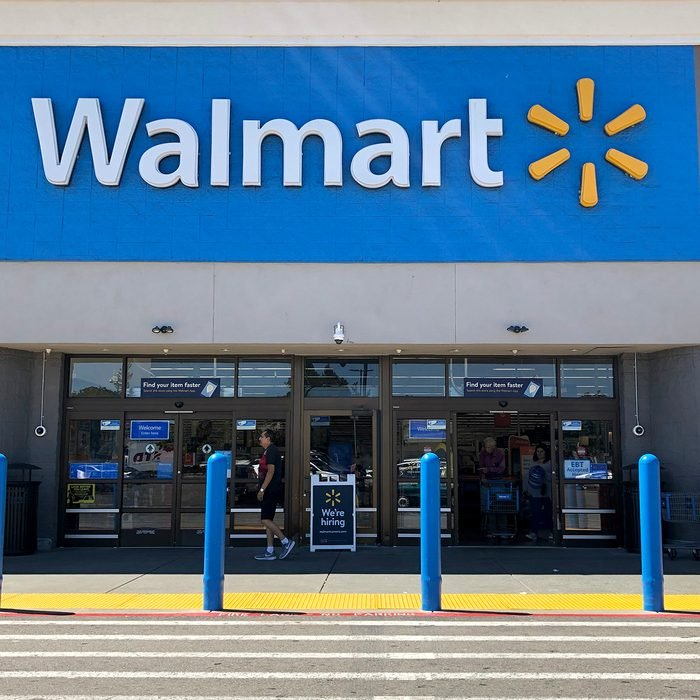 SAN LEANDRO, CALIFORNIA - SEPTEMBER 03: Customers enter a Walmart store on September 03, 2019 in San Leandro, California. Walmart, America's largest retailer, announced that it will reduce the sales of gun ammunition that can be used in handguns and assault style rifles, including .223 caliber and 5.56 caliber bullets. The move comes one month after a gunman opened fire on customers at a Walmart store in El Paso, Texas. (Photo by Justin Sullivan/Getty Images)