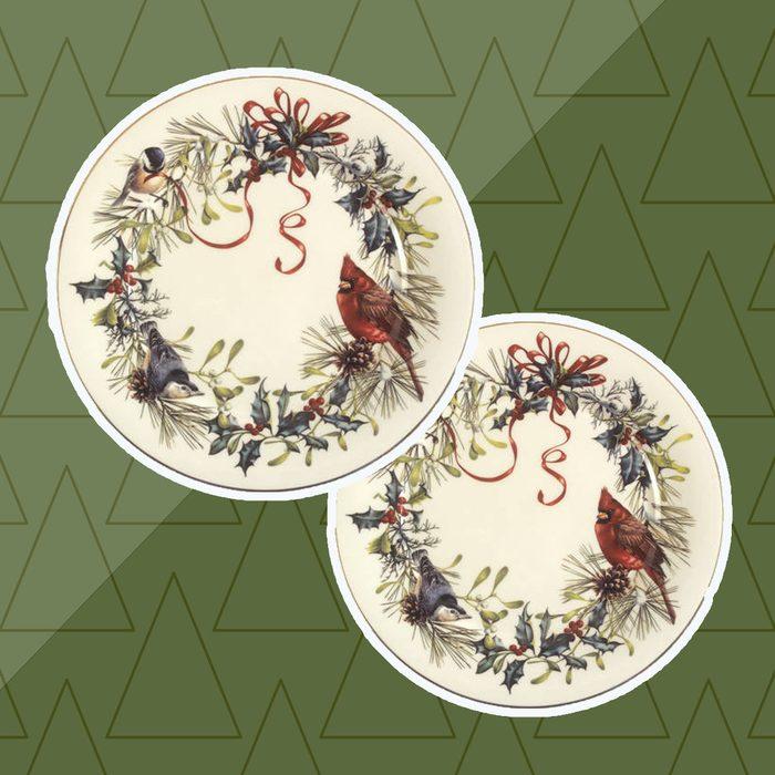 wintergreetings plates