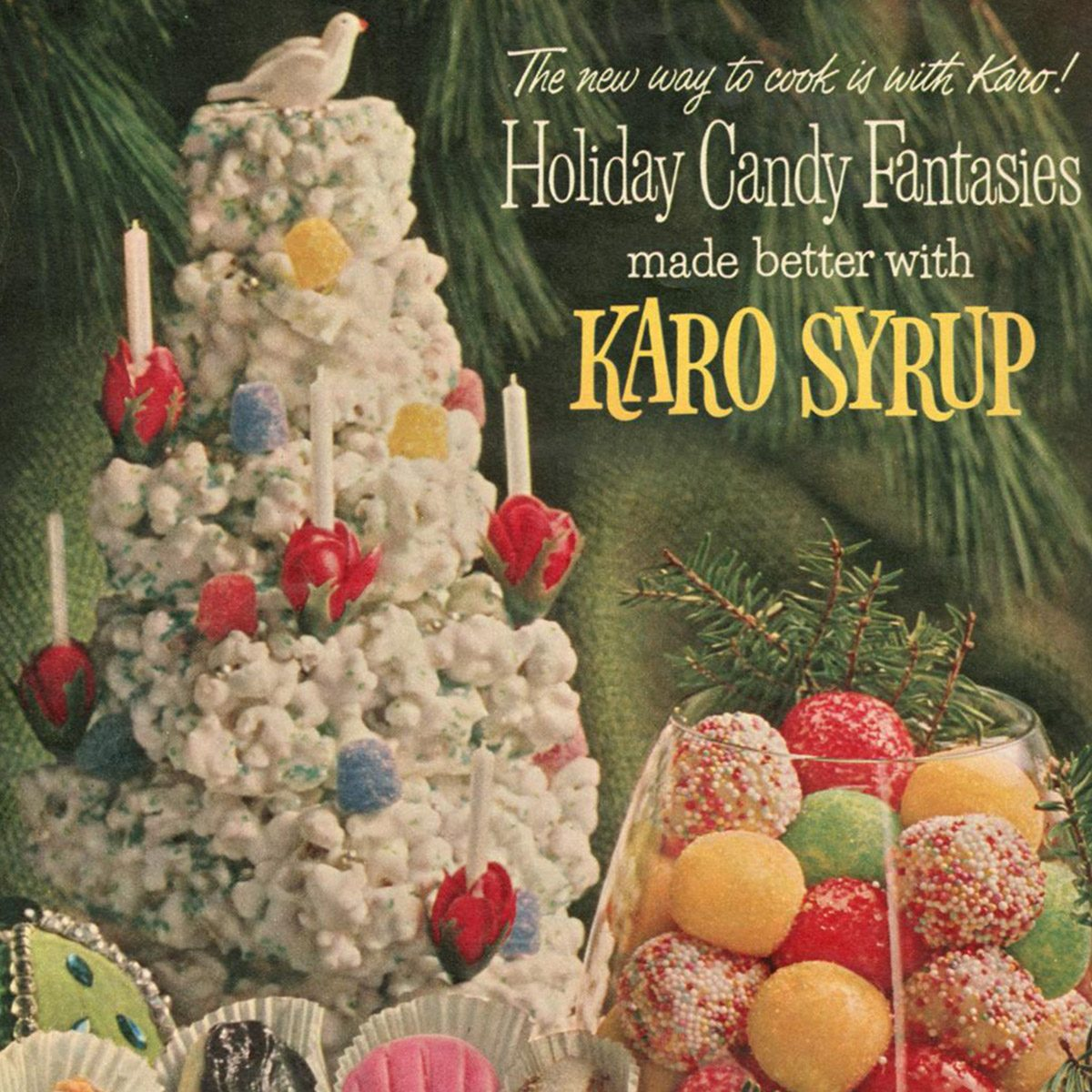 vintage Christmas Candy ad