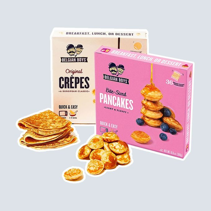 healthy breakfast on-the-go Belgian Boys Frozen Crepes And Mini Pancakes