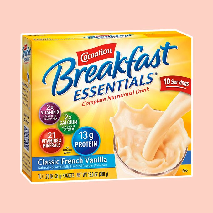 Carnation Breakfast Essentials Powder Drink Mix, Classic French Vanilla, 10 Count Box of 1.26 oz Packets, (Pack of 6) (Packaging May Vary)