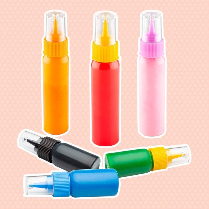 Writer Bottles - 6 Easy Squeeze Applicator Bottles - 3 each (1 and 2 Ounce) - Cookie Cutters and Cake Decorating, Food Coloring and Royal Icing Supplies