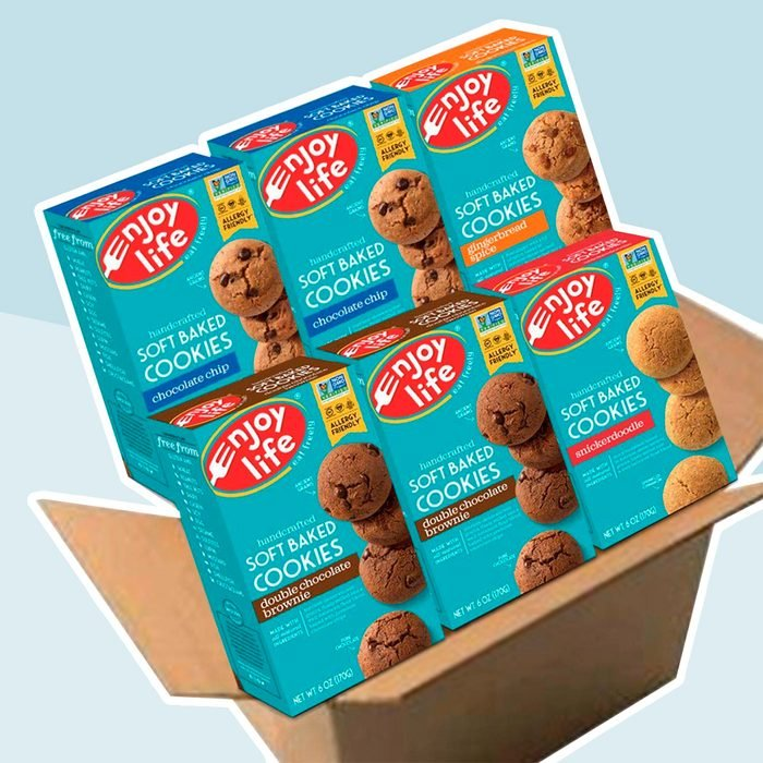 Enjoy Life Soft Baked Cookies, Soy free, Nut free, Gluten free, Dairy free, Non GMO, Vegan, Variety Pack (Chocolate Chip, Double Chocolate Brownie, Snickerdoodle, Gingerbread Spice), 6 Boxes