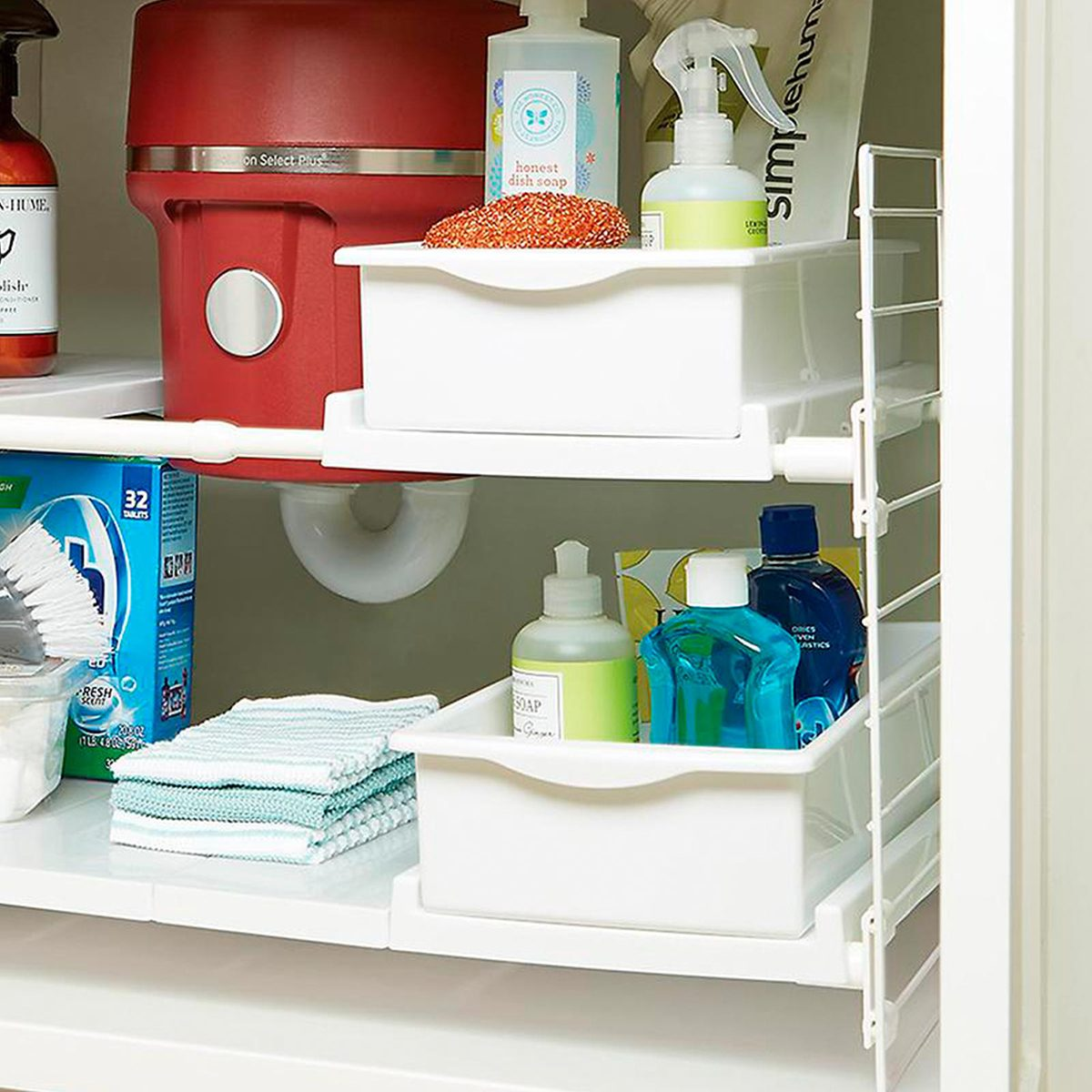Expandable under sink caddy
