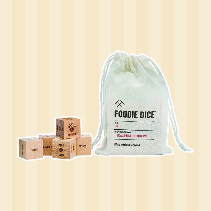 Foodie Dice® No. 1 Seasonal Dinners (pouch) // Foodie christmas gift, gift for couples, cooking, hostess, teacher, birthday gift, or stocking stuffer