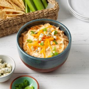 Pressure-Cooker Buffalo Chicken Dip