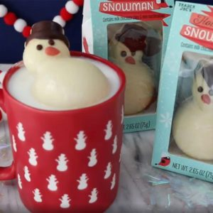 Trader Joe's Is Selling a Hot Cocoa Snowman That Melts into Perfect Hot Chocolate