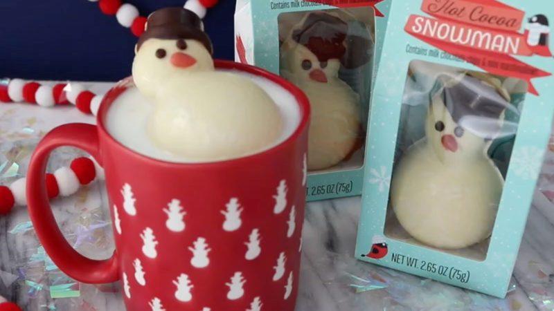 trader joes hot chocolate snowman