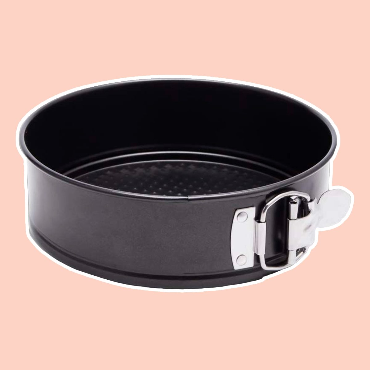 Hiware 9 Inch Non-stick Cheesecake Pan Springform Pan with Removable Bottom/Leakproof Cake Pan Bakeware with Cleaning Cloth