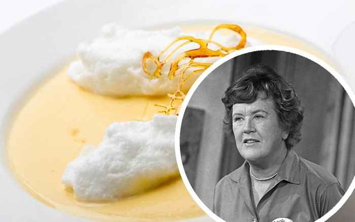 Floating islands, fluffy poached meringue on a lake of custard made from egg yolks, milk, sugar and vanilla, topped with a caramel framework. This is a traditional French farmhouse dessert.; Shutterstock ID 256177966; Job (TFH, TOH, RD, BNB, CWM, CM): TOH