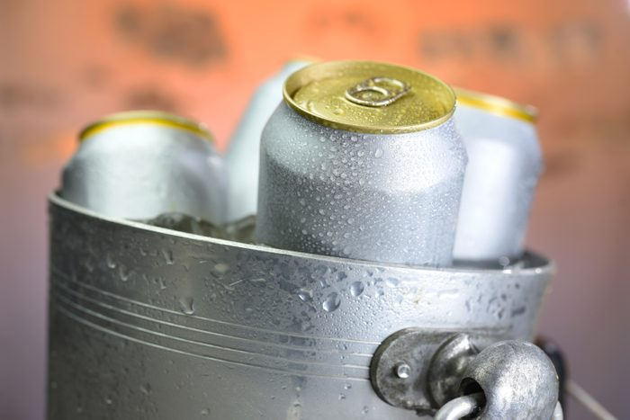 beer can chilled in wine cooler tank; Shutterstock ID 1579833088; Job (TFH, TOH, RD, BNB, CWM, CM): TOH Canned Wine