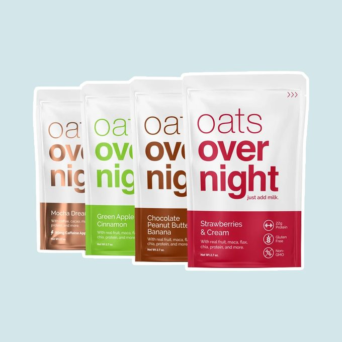 healthy breakfast on-the-go Classic Variety Pack Overnight Oats Shake