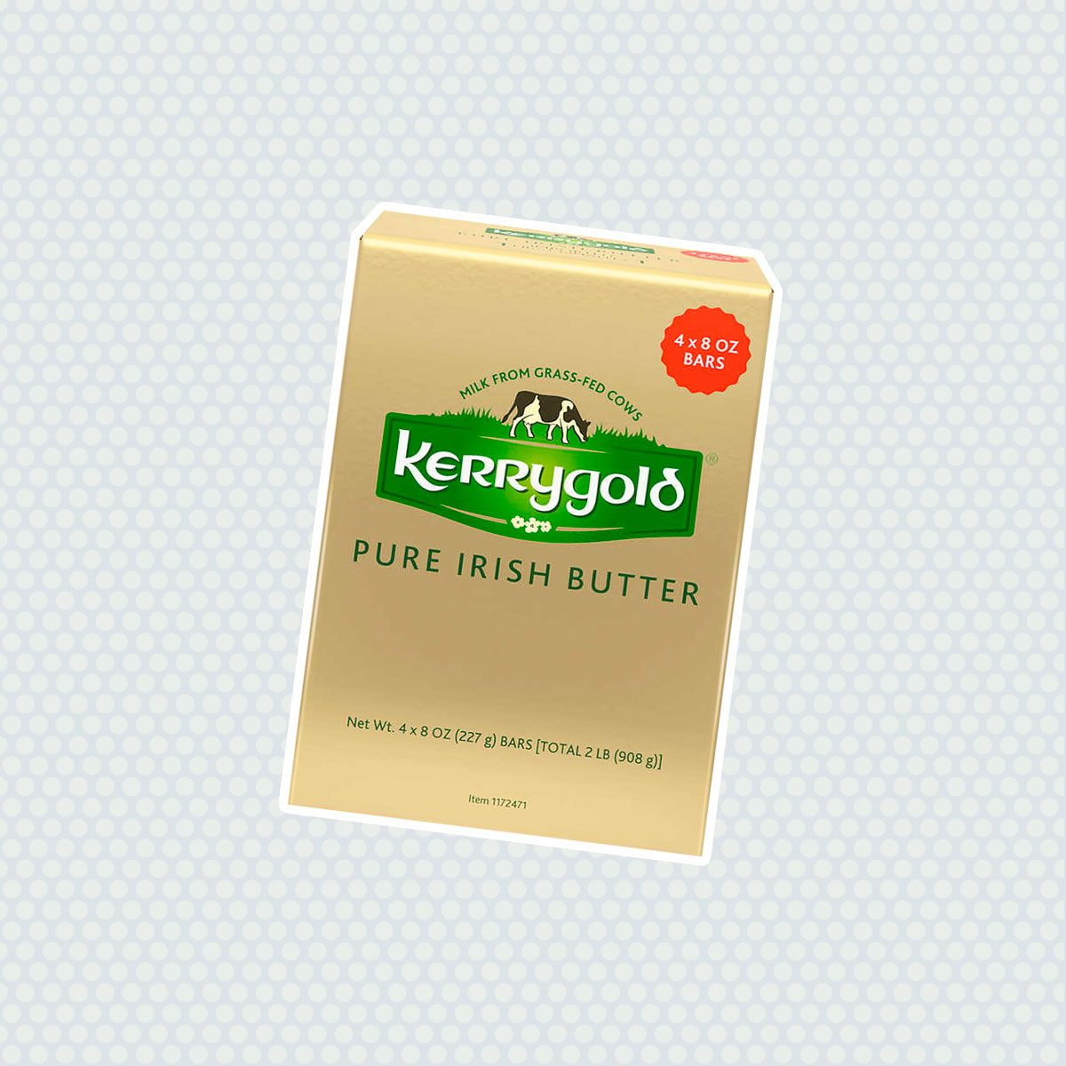 Kerrygold Pure Irish Butter, Salted, 8 oz, 4 ct