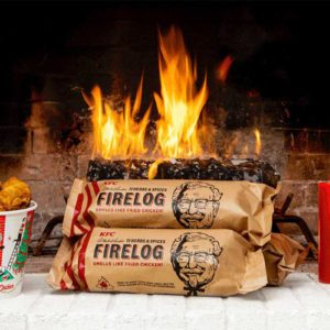 KFC's Firelog Is BACK for the Holidays, and It Smells Just Like Fried Chicken