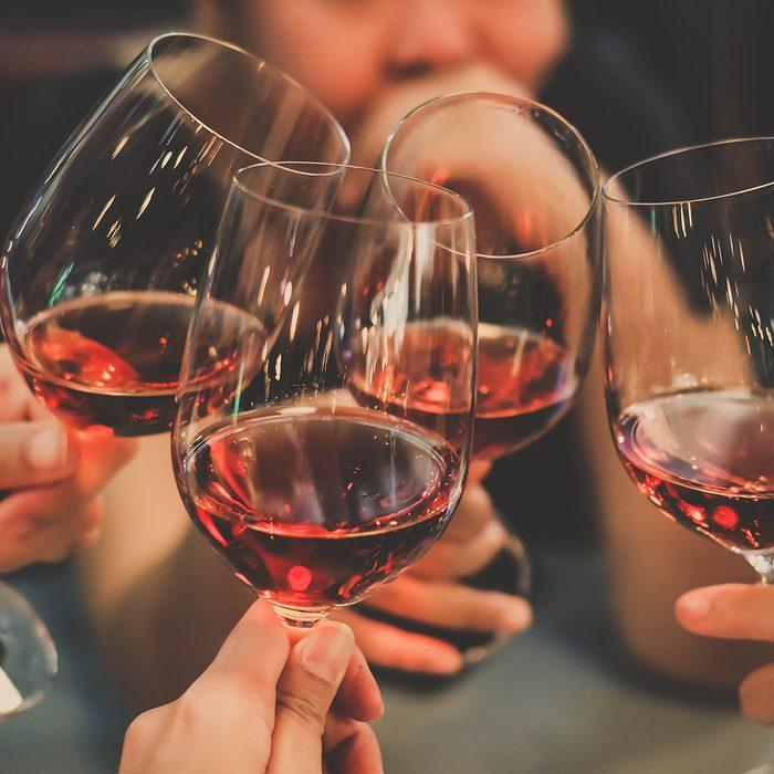 People Drink wine enjoy to night