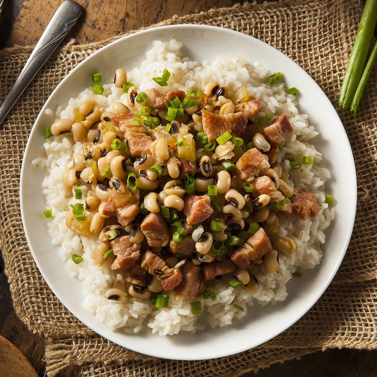 dish of rice and black-eyed peas