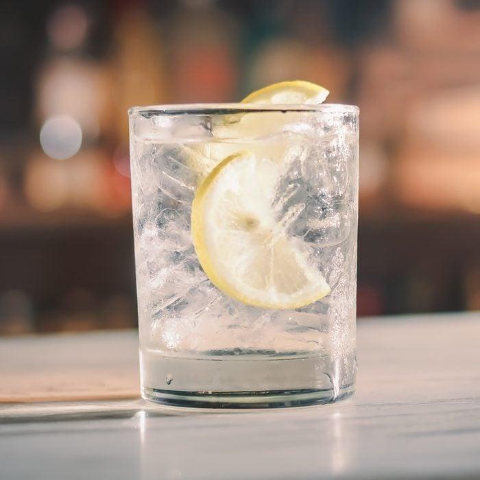 Vodka and soda cocktail on bar counter.; Shutterstock ID 510131686; Job (TFH, TOH, RD, BNB, CWM, CM): TOH