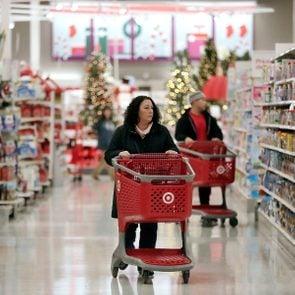 Shopping inside Target