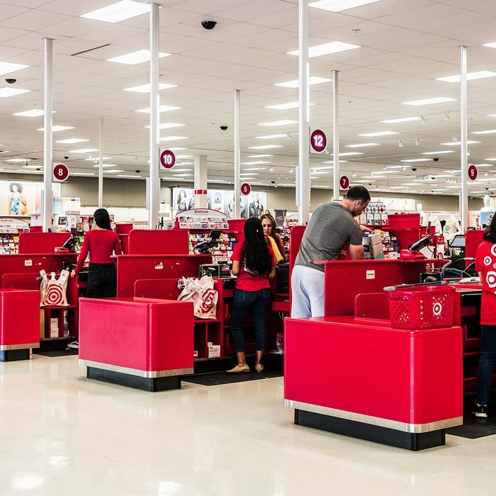 Check-out area of Target
