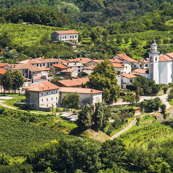 Villages at Goriska Brda, Slovenia.