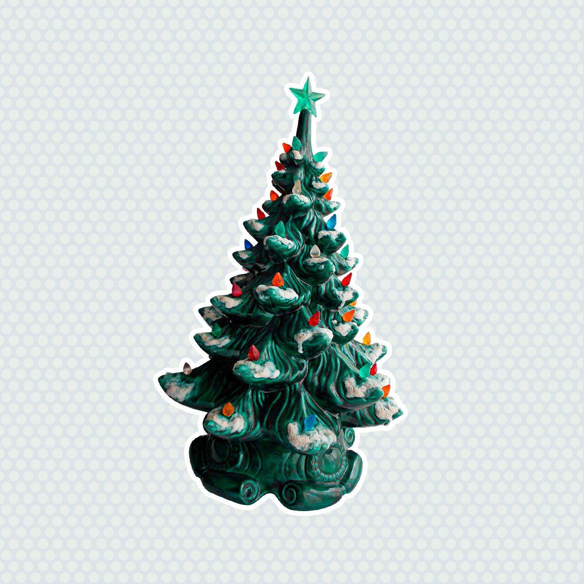Set//3 Santa Bottle Brush Christmas Tree Ornaments Red Purple Gld Retro Vtg Decor