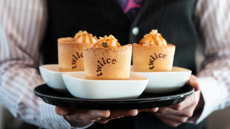 air new zealand twiice edible coffee cups