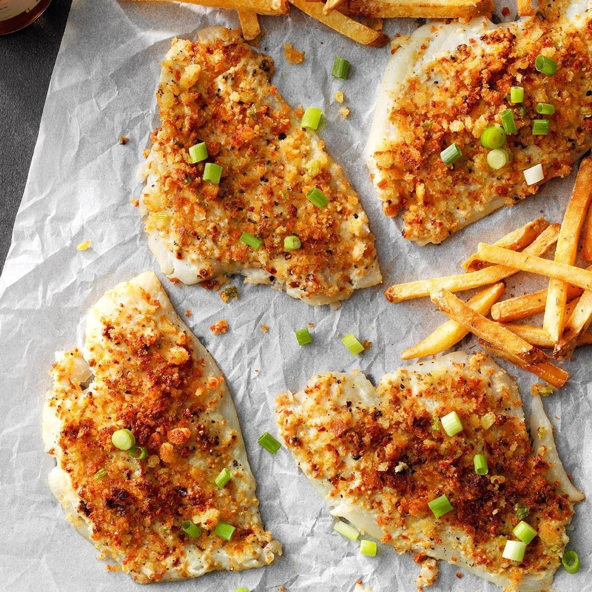Air-Fryer Crumb-Topped Sole