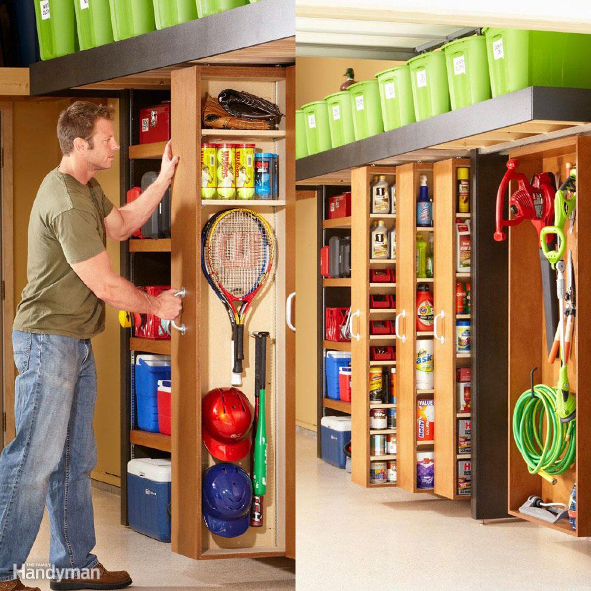 Space-Saving Sliding Garage Storage Shelves