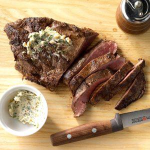 Air-Fryer Garlic-Butter Steak
