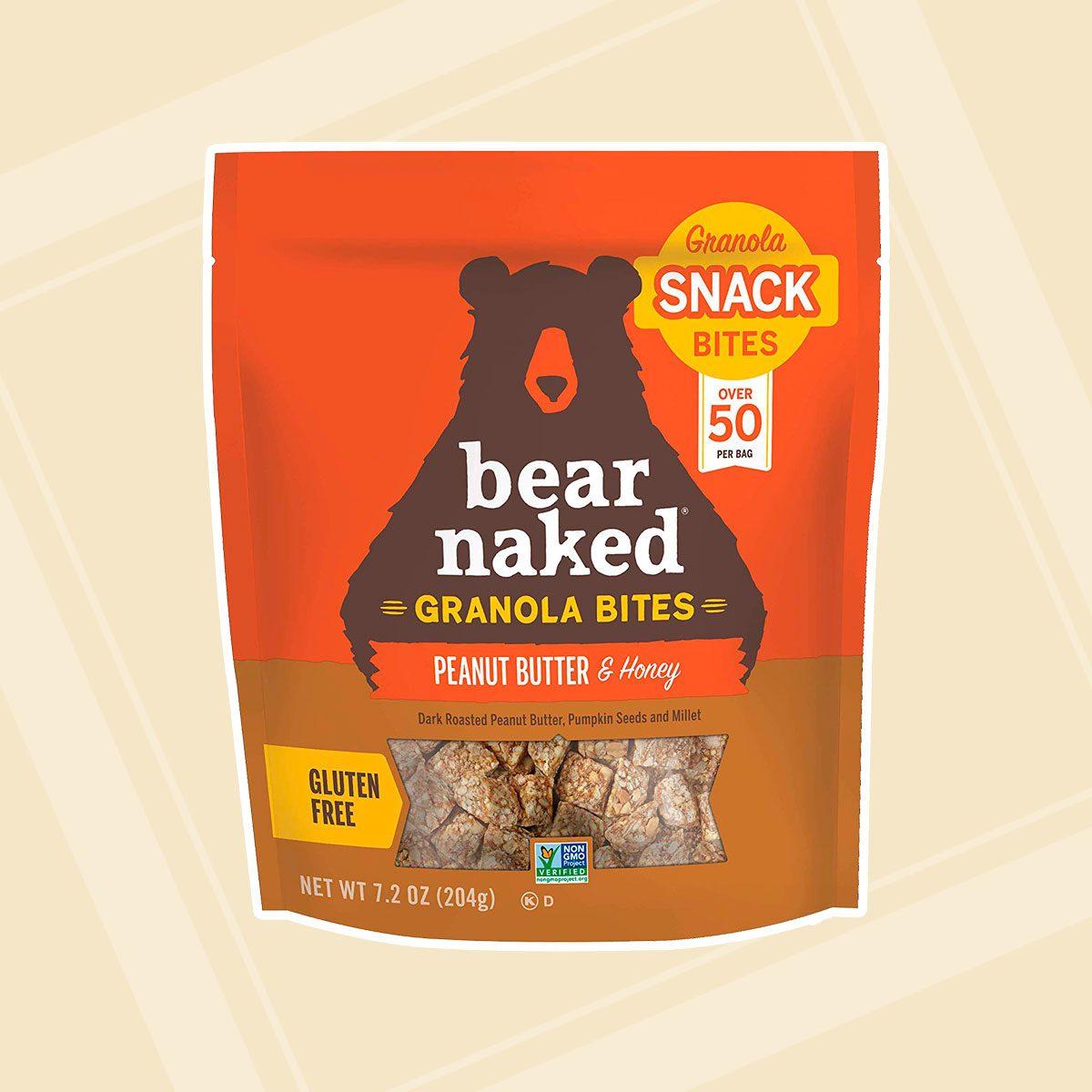 Bear Naked Peanut Butter & Honey Granola Bites - Gluten Free, Non-GMO, Kosher, Vegetarian Friendly - 7.2 Oz