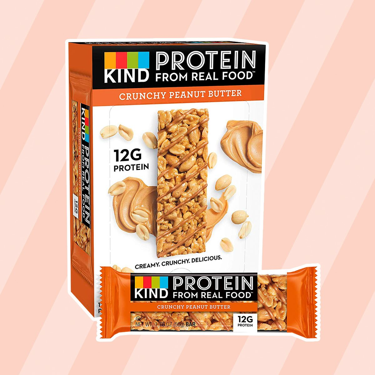 KIND Protein Bars, Crunchy Peanut Butter, Gluten Free, 12g Protein