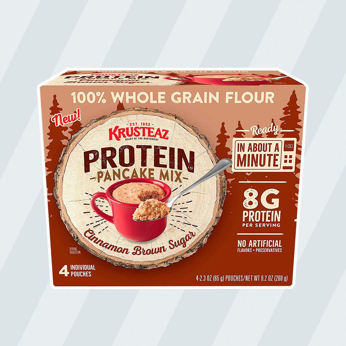 Krusteaz Protein Cinnamon Brown Sugar Pancake Mug Mix